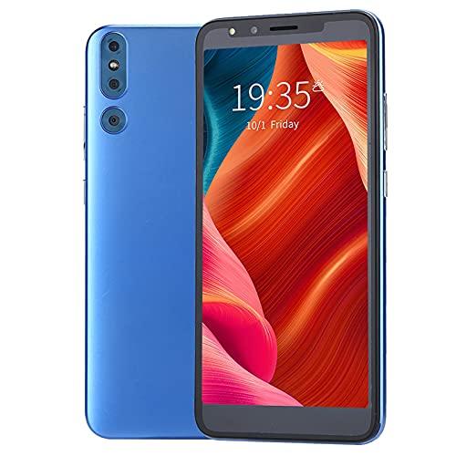 Xiuganpo 5.72 Pulgadas Smartphones Desbloqueados, Pantalla Grande Teléfono Móvil Inteligente con Potente Controlador Octa Core y Cámara HD, Versión Internacional Teléfono Inteligente(Azul)