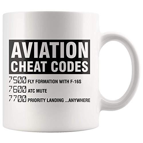 Tazas de café Taza de café de aviación Piloto divertido Regalo de graduación Regalos para el día de la madre Novedad Tazas divertidas Regalo de 11 oz