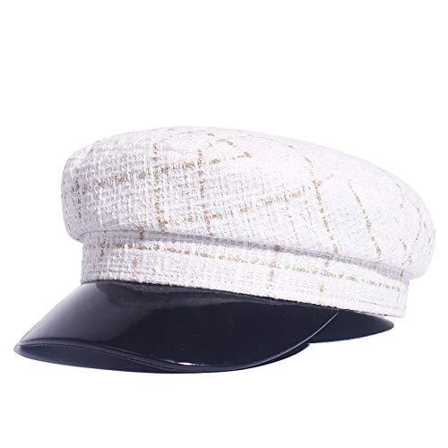 Militair muts vintage herfst schroefdraad mode Tweed militair hoed voor vrouwen mode jacht kapitein vrouwelijke skipper Sailor hoed Newsboy Caps