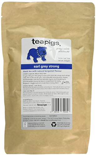 Teapigs Earl Grey Strong Loose Tea Made with Whole Leaves (1 Pack of 250g)