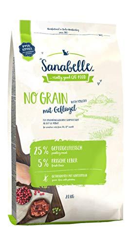 Sanabelle No Grain   con Aves De Corral   Sin Cereales   Comida Seca para Gatos Adultos Nutricionalmente Sensibles 2500 g