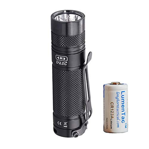EagleTac D25C Clicky MKII 800 Lumen Cree XM-L2 U4 Compact EDC Light with LumenTac CR123A, Cool White