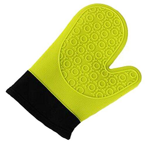 Gants en Silicone Gants en Coton Gants Chauffants pour Micro - Ondes Haute température Anti - Étanchéité Antidérapant, Vert