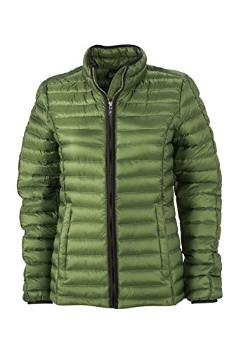 James & Nicholson Damen Jacke Jacke Ladies Quilted Jacket grün (Jungle Green/Black) Large