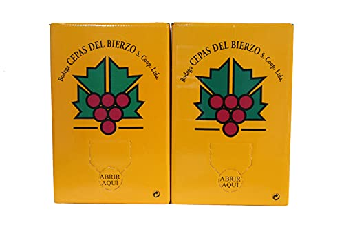 Bag in Box Vino Tinto   5 litros (2) de la Bodega Cepas del Bierzo   Tinto joven utilizando variedades de uva autóctonas de la Comarca del Bierzo.