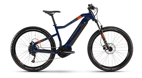 HAIBIKE SDURO HardSeven 1.5 Yamaha Elektro Bike 2020 (M/44cm, Blau/Orange/Titan)