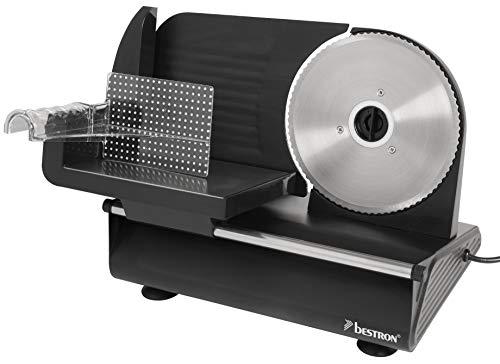 Bestron Allesschneider, Schnittstärke 0-15 mm, 2 Geschwindigkeiten, 150 Watt, Schwarz