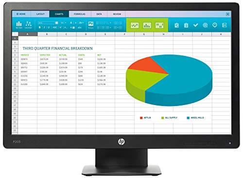 HP ProDisplay P203 (20 Zoll / HD+) Business Monitor (DisplayPort, VGA, Reaktionszeit 5 ms, 60Hz) schwarz