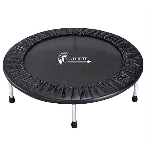 CENTURFIT Mini Trampolin Brincolin Tumbling Aerobico Fitness Gym 40 Pulgadas Rebote silencioso Resorte…