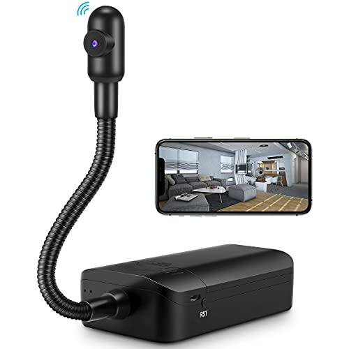 HOSUKU 4K Semi-Rigid Snake Camera,Hidden Spy Camera Wireless WiFi Mini Hidden Home Security Camera for Android and iOS Smartphone