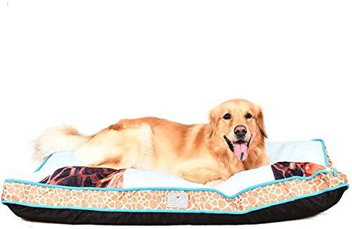 YAOSHUYANG Cama extra grande para perro, cama de apoyo terapéutico de calidad, camas para perros extraíbles y fáciles de limpiar, ideal para perros y gatos en verano caluroso, L (tamaño mediano)