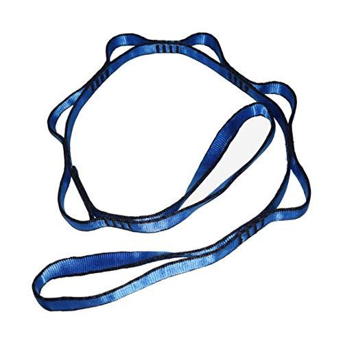MAJFK Aerobics Yoga Stretch Band Anti-Gravity Yoga Hamaca Inversión Herramienta Accesorios Cuerda Crisantemo Saltar Cinturón Estiramiento Azul