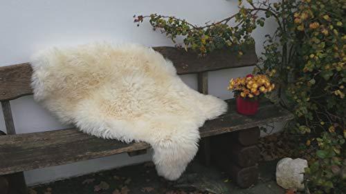 Felltrade Merino Schaffell Lammfell Fell echt groß 130-140 cm weiß ökologische Gerbung