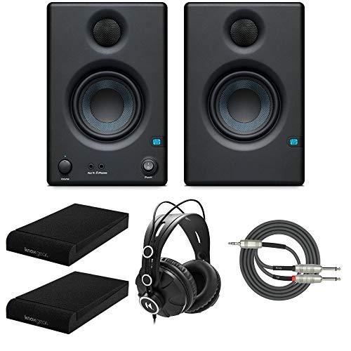 Presonus Eris-E3.5 Studio Monitors (Pair) with Full-Sized Headphones, Knox Gear...