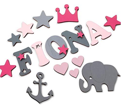 7cm Holzbuchstaben, Türbuchstaben, Kinderzimmer I In tollen Farbkombinationen für Jungen und...