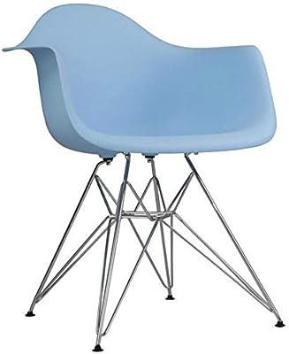 Amazon.com: Ariel DAW plástico negro sillón con patas de ...