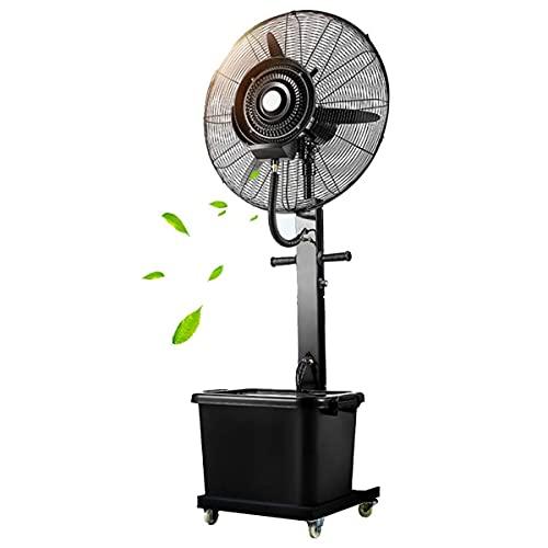 qwert Ventilador De Pedestal Grande Alta Velocidad 32 Pulgadas Ventilador De Pulverización Industrial con Tanque Agua 45l Y 3 Velocidades, Ventilador De Piso Enfriamiento Oscilante 90 °