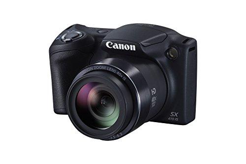 Canon PowerShot SX410 IS Digitalkamera (20 MP, 40-fach optischer Zoom, 7,6cm (3 Zoll) Display, HDMI Mini, USB 2.0) schwarz