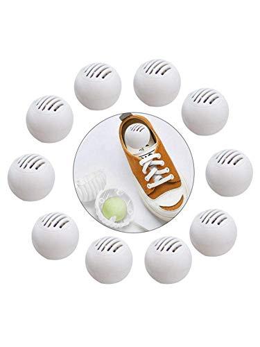 gaeruite Eliminador de olores Bolas de naftalina, 10PCS Eliminador de olores Eliminador de olores de Bola para Zapatillas Gabinete de Zapatos de Cuero