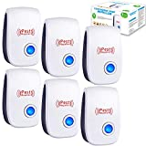 Ultrasonic Pest Repeller 6 Pack, Ultrasonic Pest Repellent Plugin Electronic Pest Control Pest Reject Indoor Insect Control for Mosquitoes Roaches Flea Mice Spiders Ants