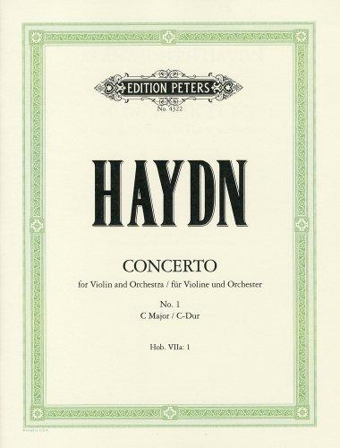 『ハイドン: バイオリン協奏曲 第1番 ハ長調 Hob.VIIa/1/ペータース社/ピアノ伴奏付ソロ楽譜』のトップ画像