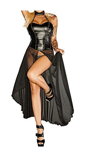 Noir Handmade Damen Langes Neckholder Kleid 3XL-46