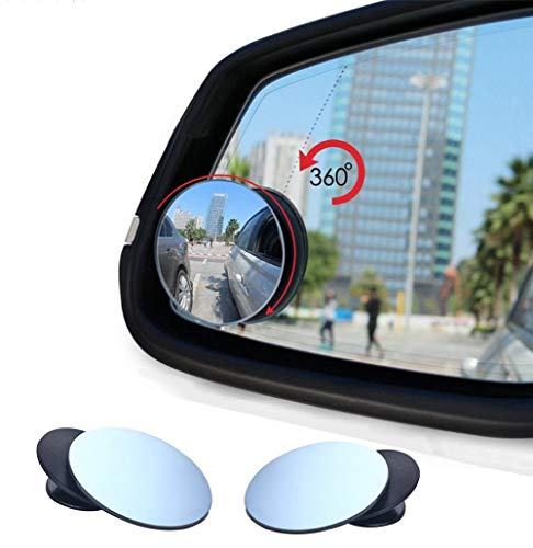 Auto Toter-Winkel-Spiegel, vi-go, Upgrade konvex Weitwinkel 360Grad drehbar verstellbar zum Aufkleben auf Außenspiegel für alle Autos, SUV, Trucks, Motorräder. (2 Stück)