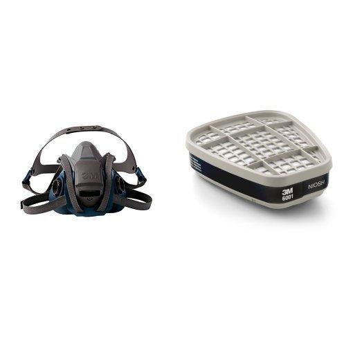 3M Rugged Comfort Quick Latch Half Facepiece Reusable Respirator 6503QL