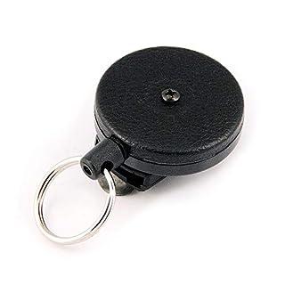 Key-BAK 0484-823 No.484B-HDK Retractable Reel with 48-Inch/122cm Kevlar Cord, Black Front, Removable Swivel Belt Clip, 8-Ounce Retraction, Split Ring (B0088MQ6Y6) | Amazon price tracker / tracking, Amazon price history charts, Amazon price watches, Amazon price drop alerts
