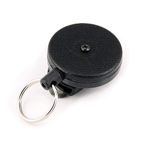 KEY-BAK KB 484 Schlüsselrolle stabil Kevlarseil mit 360 grad drehbar clip schwarz, KB 484 Black