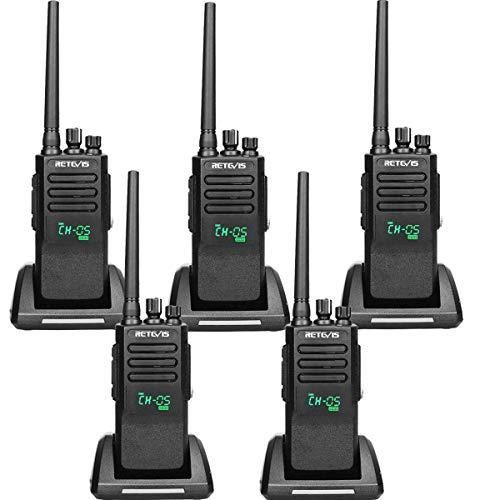 Retevis RT50 Digital 2 Way Radios Long Range,Waterproof High Power Walkie Talkies, IP67 Dual Time Slot Group Call 198 CH DMR Radio (5 Pack)