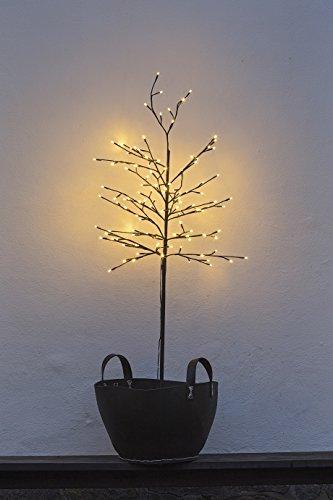Sirius LED Baum Noah 160 LED warmweiß 150 cm hoch braun für Außen geeignet