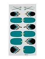 ビエスディディ ネイルチップ 防水 貼るタイプ 無地/小花/チェック柄など多種類 レディース DA023