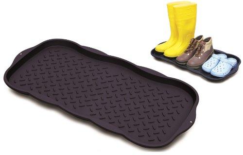 Kreher Praktische Mehrzweckablage mit erhöhtem Rand für Schuhe, Blumentöpfe, Fressnapf und vieles mehr