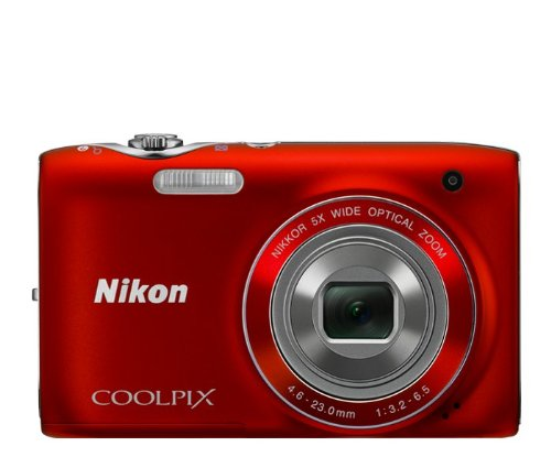 Best Price Nikon COOLPIX S3100 14 MP Digital Camera with 5x NIKKOR Wide-Angle Optical Zoom Lens and 2.7-Inch LCD (Red)