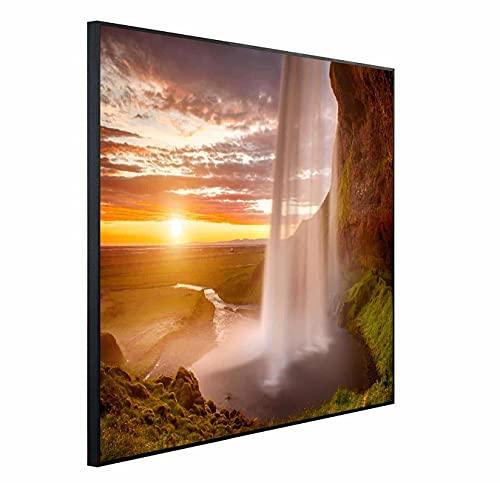 Chauffage infrarouge Ecowelle avec image - 350 W - 60 x 60 cm - Chauffage infrarouge - Fabriqué en Allemagne, 114x100x3cm
