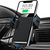 Wireless Car Charger, MOKPR Auto-Clamping Car Mount 15W/10W/7.5W Fast Charging Air Vent Car Phone Mount Compatible with iPhone 12 Pro Max/12 pro/12/11/10/8 Series, Samsung Galaxy Series, etc