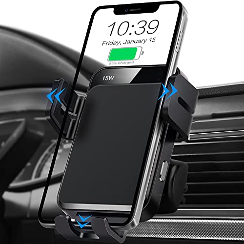 Wireless Car Charger, MOKPR Auto-Clamping Car...