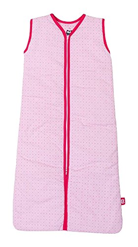 Briljant baby winter slaapzak met ritssluiting 70 cm JOY roze