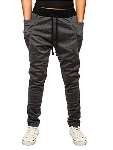 OBT Boy's Dark Grey Slim Casual Cotton Comfy Skinny Running Jogger Pants 16