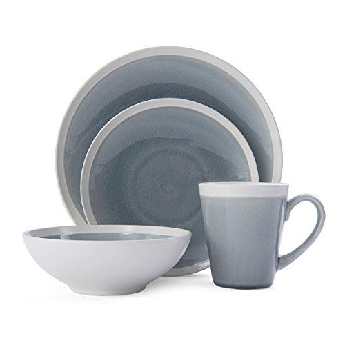 Mikasa Brielle 16-Piece Dinnerware Set, Service for 4, Grey