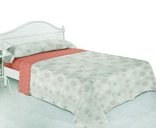 Montse Interiors, S.L. Thermal Bedding Set - Coral Fleece 220 g/m² - Silky Soft - 'zachte' Design - Pink - Bovenlaken 270 x 270 cm + 2 kussenslopen 100 x 45 cm + hoeslaken 180 x 195 cm