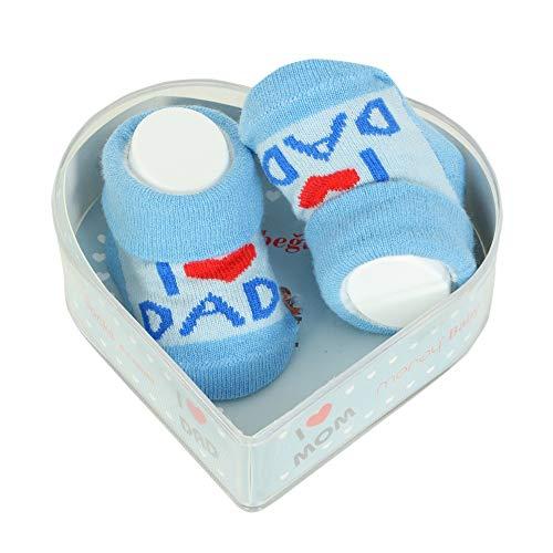 Neugeborene Babysocken 0-3 Monate Baby-Jungen | Dicke Baumwolle & rutschfeste Griffe | Perfekter Geschenk für Neugeborene Babys & Babyshowers |
