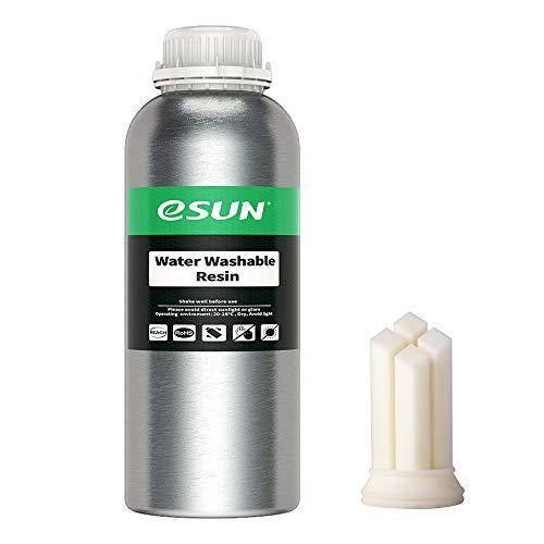 eSUN LCD UV 405nm Resina Lavabile con Acqua per Stampante 3D Resina Fotopolimerizzante UV Resina Fotopolimerica Rapida per Stampa 3D LCD, 1000g Bianca