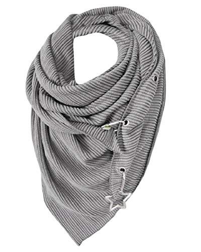 Yuson Girl Bufanda de invierno con forma de triángulo para mujer, cálida bufanda de infinito, bufanda con botón para el cuello, bufanda de moda, chal