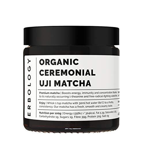 Organic Ceremonial Uji Matcha 40g - 100% Tencha Stone-Ground Green Tea - Made in Kyoto, Japan