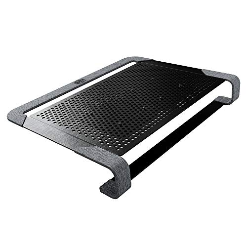 Cooler Master Notepal U2 Plus V2, Notebook-Kühler bis zu 43,2 cm (17 Zoll), 2 x 80 mm bewegliche Lüfter, schwarzes Aluminium