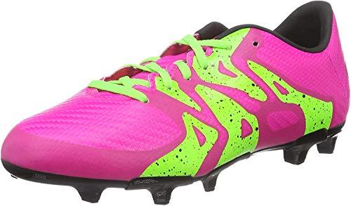 adidas X FG/AG Terrain Souple/Synthétique Junior, Football Mixte Enfant, Rose (Shock Pink S16/Solar Green/Core Black), 36