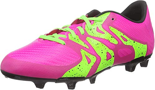 adidas X FG/AG Terrain Souple/Synthétique Junior, Football Mixte Enfant, Rose (Shock Pink S16/Solar Green/Core Black), 36 EU