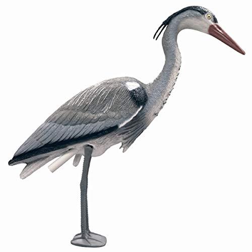 Pond Friend Plastic Heron - Realistic Life Sized Ornament Bird Scarer For Garden Fish Ponds 76cm